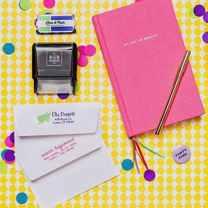 PSA Essentials Rectangle Personalized Self-inking Return Address Lifestyle Image