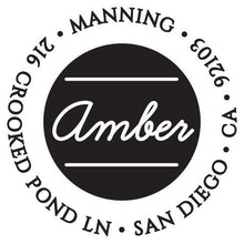 Amber Personalized Self Inking Round Return Address Stamp