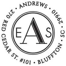 Andrews Personalized Self Inking Round Return Address Stamp
