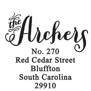 Archer Return Address Self Inking Stamp