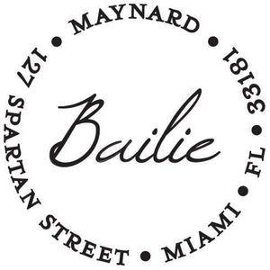 Bailie Personalized Self Inking Round Return Address Stamp