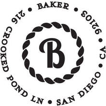 Baker Personalized Self Inking Round Return Address Stamp
