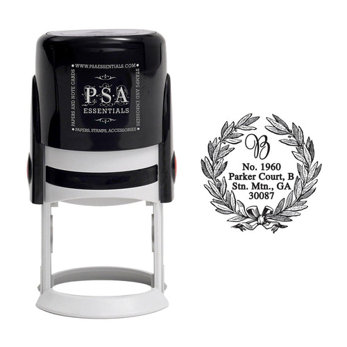 Round PSA Essentials Personalized Self-Inking Return Address Stamp