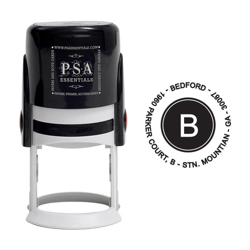 Bedford Personalized Self Inking Round Return Address Stamp