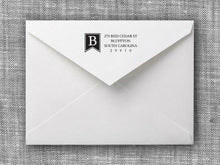 Braden Rectangle Personalized Self Inking Return Address Stamp on Envelope