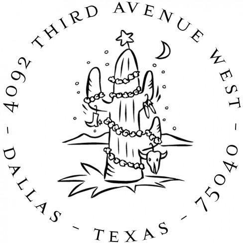 Cactus Return Address Stamp Design