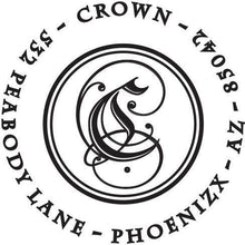 Crown Personalized Self-inking Round Return Address Stamp