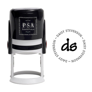 Daisy Personalized Self Inking Round Return Address Stamp