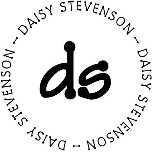 Daisy Personalized Self Inking Round Monogram Stamp