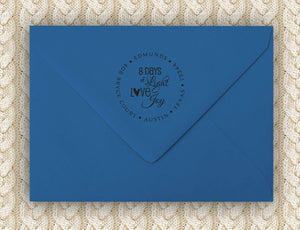 8 Days Return Address Stamp