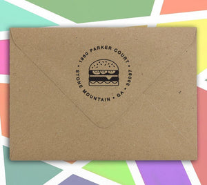 Food & Fun Return Address Stamps - PSA Essentials
