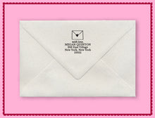 Natalie Chang Sealed with a Heart Personalized Self-inking Round Return Address Stamp on Envelope