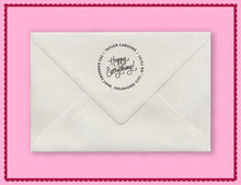 Nc Personalized Self-inking Round Return Address Stamp on Envelope