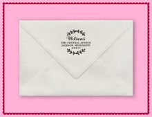 Natalie Personalized Self-inking Round Return Address Stamp on Envelope