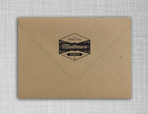 Matthews Personalized Self-inking Round Return Address Design on Envelope