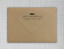 Melville Rectangle Personalized Self Inking Return Address Stamp on Envelope