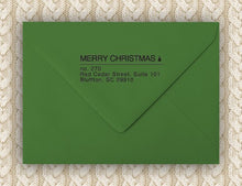 Modern Christmas Rectangle Personalized Self Inking Return Address Stamp on Envelope