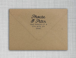 Phoebe Personalized Self-inking Round Return Address Design on Envelope