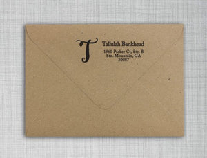 Tallulah Personalized Self Inking Return Address Stamp on Envelope