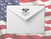 E Personalized Self-inking Round Return Address Stamp on Envelope