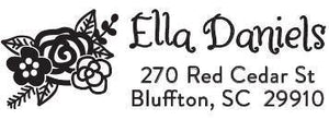 Ella Rectangle Personalized Self Inking Return Address Stamp