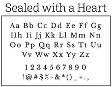 Natalie Chang Sealed with a Heart Personalized Self-inking Round Return Address Stamp Font