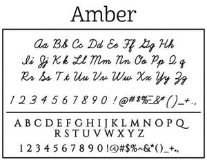 Amber Personalized Self Inking Round Return Address Stamp fonts