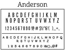 Anderson Personalized Return Address Standard Embosser Font