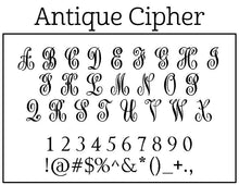 Antique Cipher Monogram Embosser