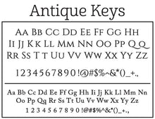 Emily McCarthy Antique Keys Personalized Self-inking Round Return Address Stamp Font