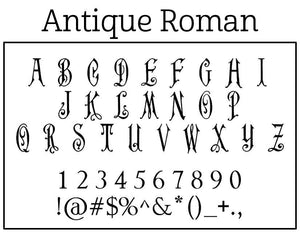 Antique Roman Personalized Self Inking Round Monogram Stamp font