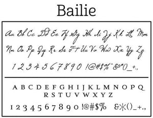 Bailie Personalized Self Inking Round Return Address Stamp font