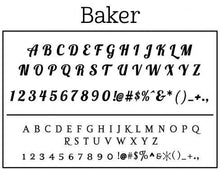 Baker Personalized Self Inking Round Return Address Stamp font