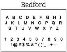 Bedford Personalized Self-inking Round Return Address Stamp on Envelope