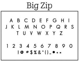 Big Zip Return Address Self Inking Stamp