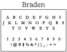 Braden Rectangle Personalized Self Inking Return Address Stamp font