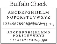 Kelly Hughes Buffalo Check Stamp
