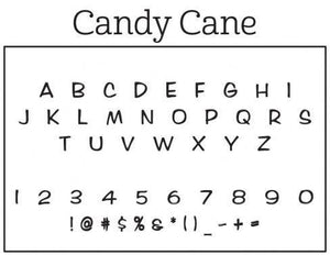 Candy Cane Personalized Self-inking Round Return Address Stamp Font