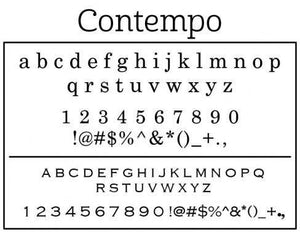 Contempo Personalized Self-inking Round Return Address Stamp Font
