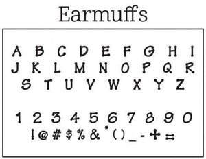 Earmuffs Personalized Self-inking Round Return Address Stamp Font