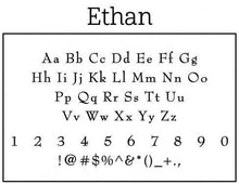 Ethan Personalized Self Inking Return Address Stamp font