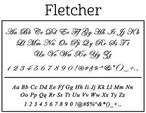 Fletcher Rectangle Personalized Self Inking Return Address Stamp font