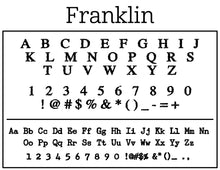 Franklin Rectangle Personalized Self Inking Return Address Stamp font