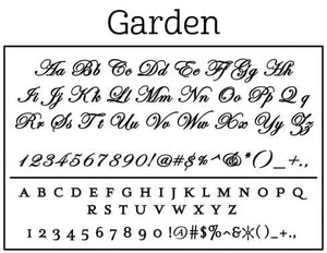 Garden Personalized Self-inking Round Return Address Stamp on Envelope