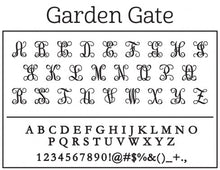 Kelly Huhges Garden Gate Personalized Self-inking Round Return Address Stamp Font
