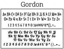 Gordon Personalized Self-inking Round Return Address Stamp on Envelope