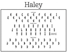 Haley Rectangle Personalized Self Inking Return Address Stamp Font Monogram