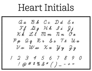 Heart Personalized Self-inking Round Return Address Stamp Font