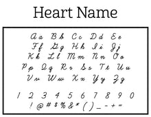 Heart Name Personalized Self-inking Round Return Address Stamp Font
