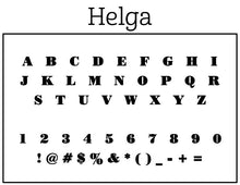 Helga Rectangle Personalized Self Inking Return Address Stamp font